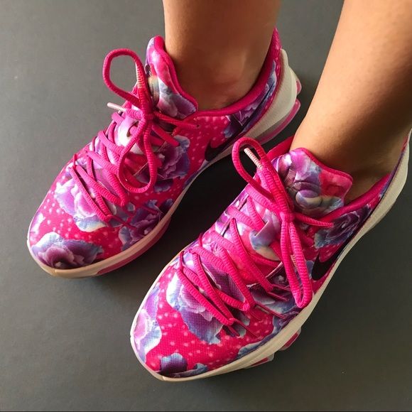 0b8874f59699 Nike KD Aunt Pearl Floral Sneakers